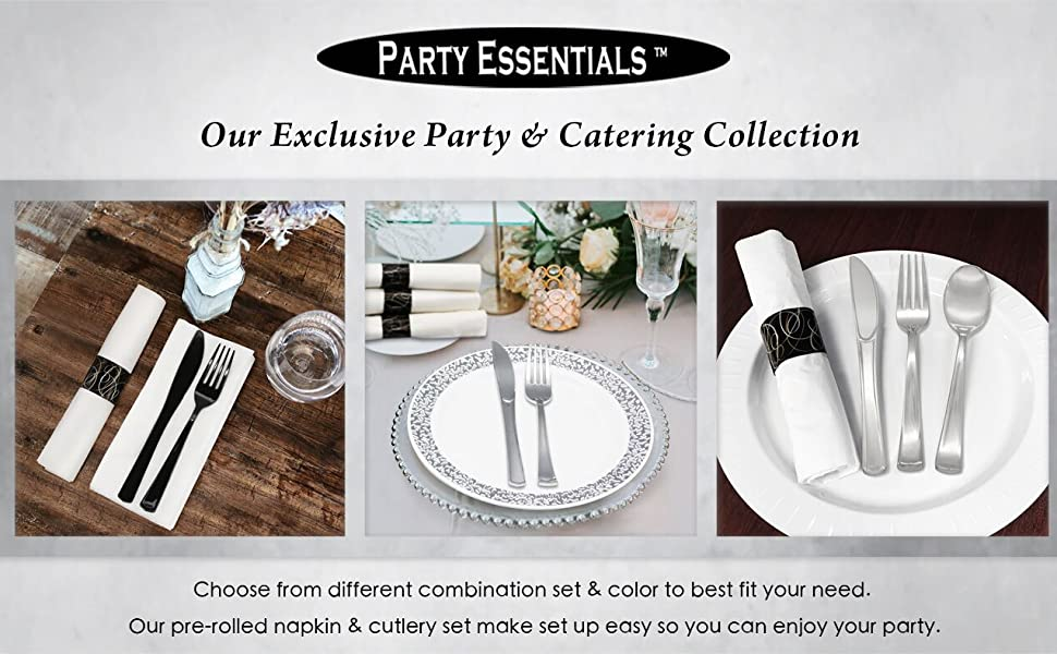 Pre Rolled Napkin and Cutlery