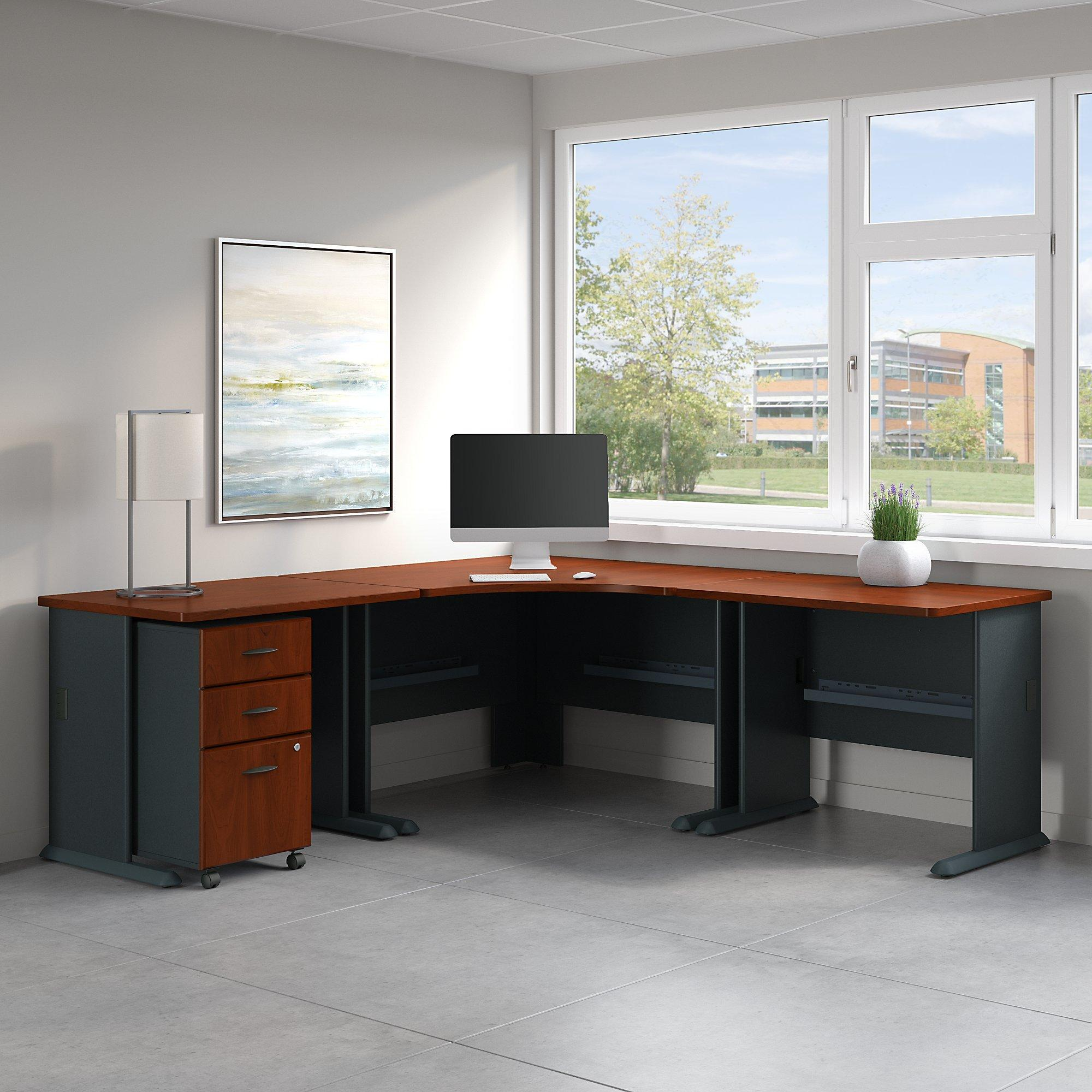 Corner Kitchen Desk Designs: Amazon.com: Series A 84W X 84D Corner Desk With Mobile