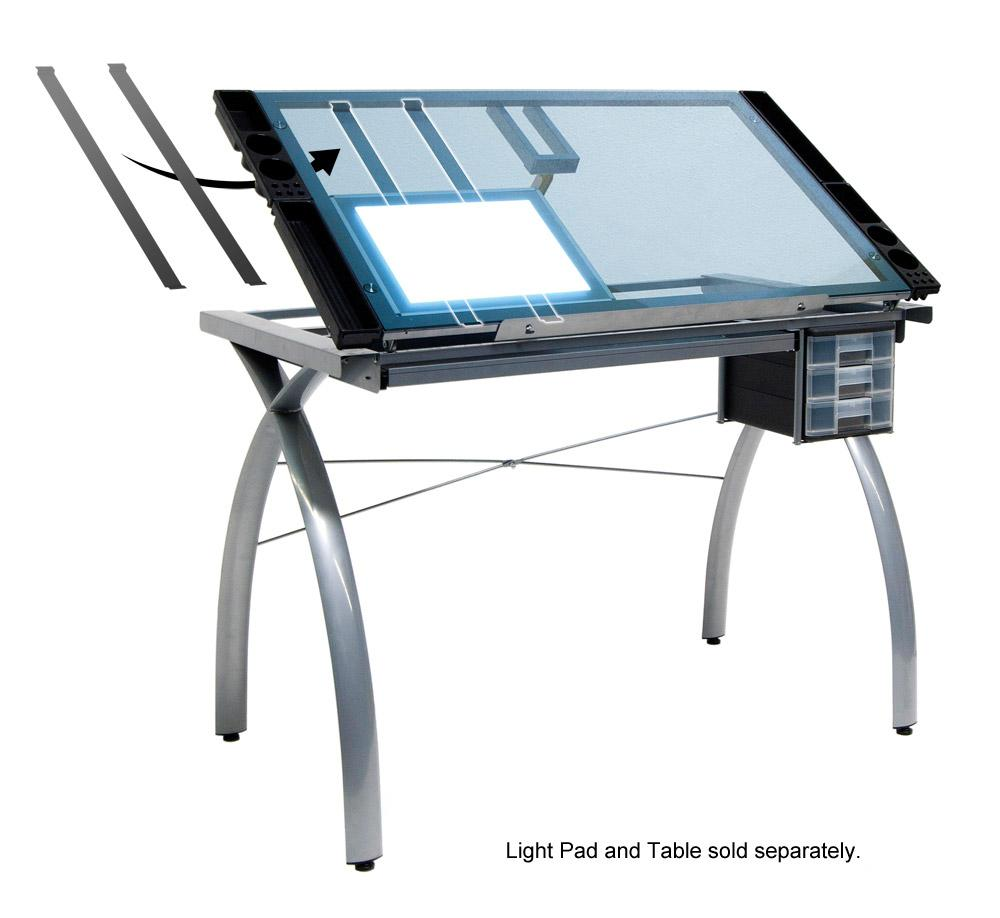 Studio rta drafting table futura studio design rta glass for 10050 futura craft station