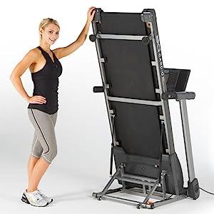 80i Fold Flat Treadmill Folds Up and Flat