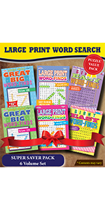 Kappa Books Publishers Large Print Word Search Puzzle Books Super Saver Puzzle Books