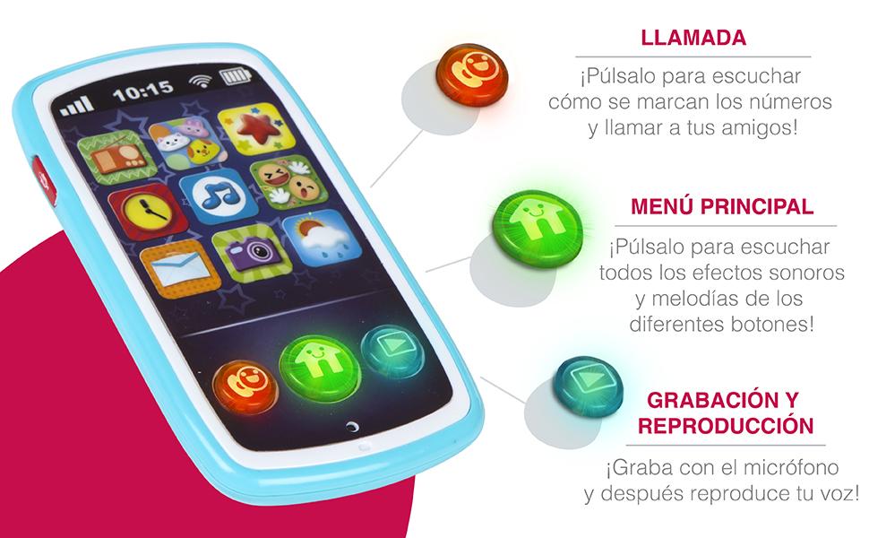 winfun - Teléfono móvil musical para bebés (44523) , color/modelo surtido: Amazon.es: Juguetes y juegos