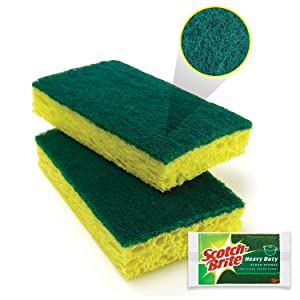 Scotch-Brite Heavy Duty Scrub Sponge close up detail