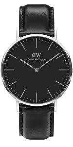 dw, daniel wellington, classic black, leather watch, classic sheffield, black sheffield