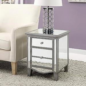 Amazon.com: Convenience Concepts 413745WW mesa color blanco ...