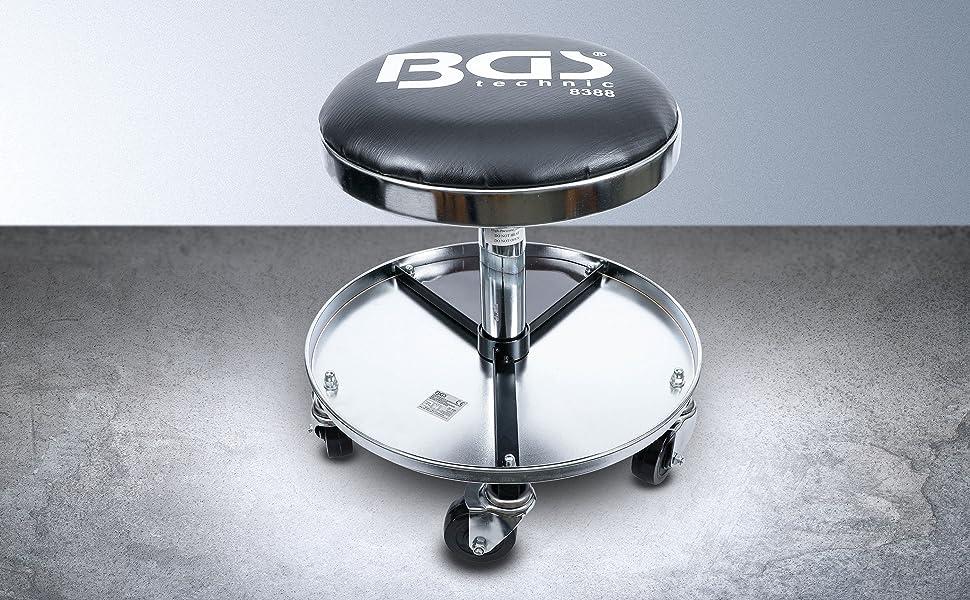 Bgs 8388 Werkstatt Arbeitssitz Mit 5 Rollen Ø 360 Mm Baumarkt
