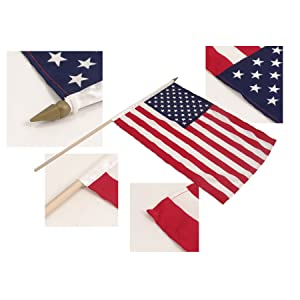 """ROYAL MARINES Hand Flag 12/"""" Wooden Pole FREE UK Delivery!"""