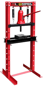 12 Ton Steel H-Frame Hydraulic Shop Floor Press