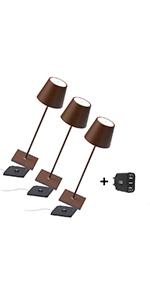 poldina pro zafferano aiino moderne lampe portable rechargeable chargeur de bureau sans fil