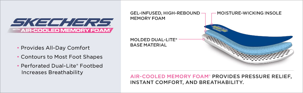 Skechers air cooled memory foam comfort