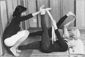 yoga, lying down big toe pose