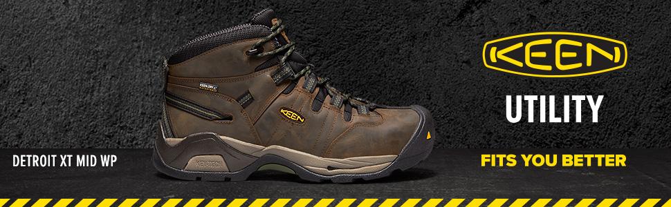 880d5d1c6a6 KEEN Utility Men's Detroit Xt Mid Steel Toe Waterproof Industrial Boot
