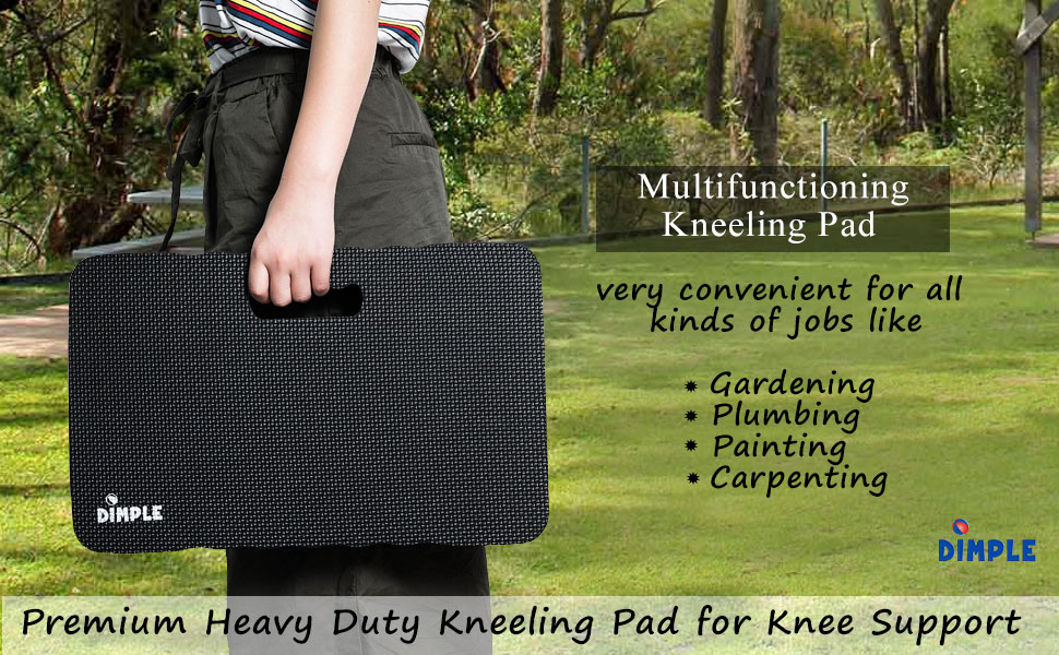 GOUPPER Knee Pads Seat Cushion XL Gardening Kneeling Mat for Gym and Yoga For Gardening Installation and Repair Car Repair blue