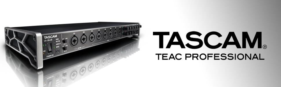 tascam us 20x20 usb 3 0 audio midi interface with microphone preamp mixer musical. Black Bedroom Furniture Sets. Home Design Ideas