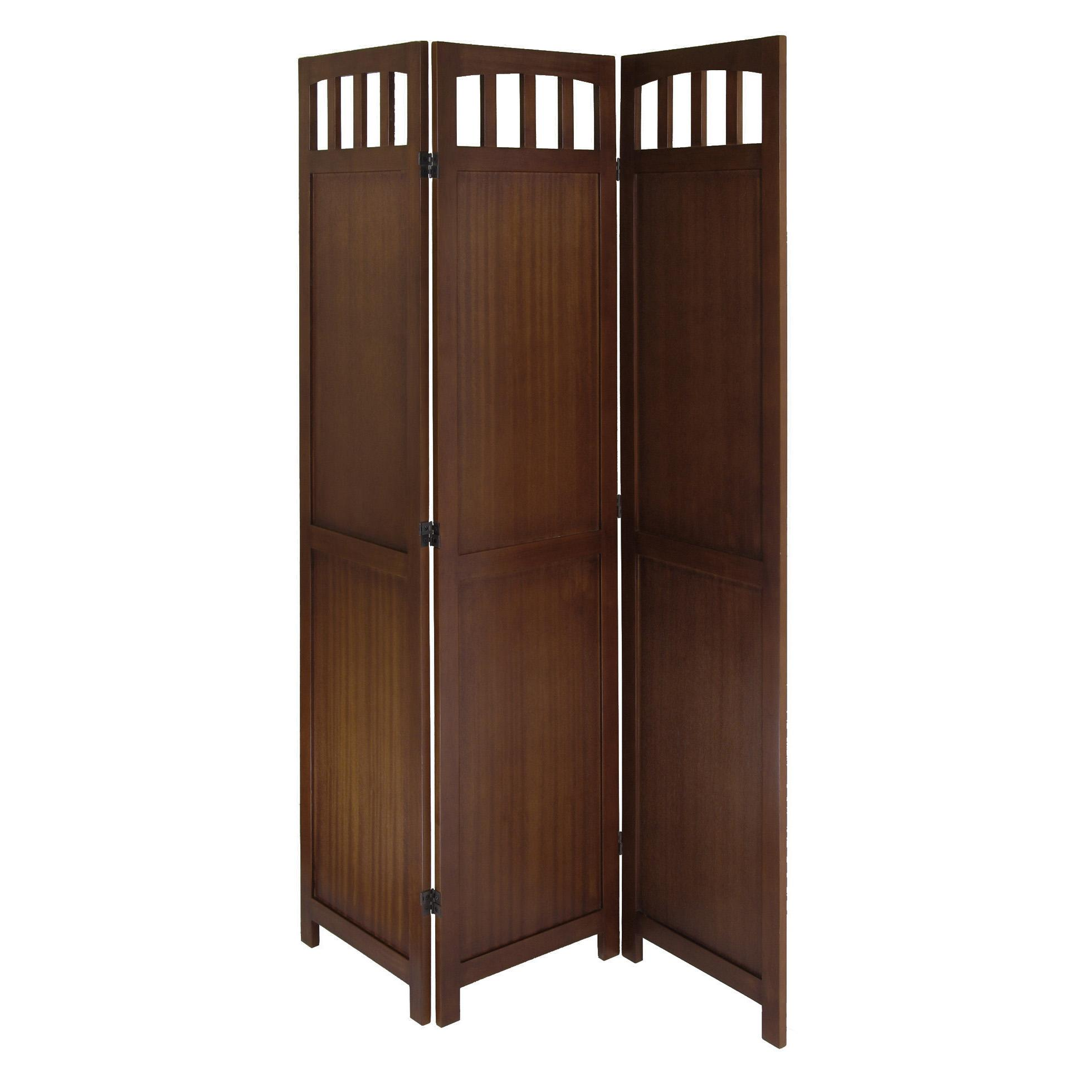 Amazon.com: Winsome Wood 3-Panel Wood Folding Screen: Kitchen & Dining