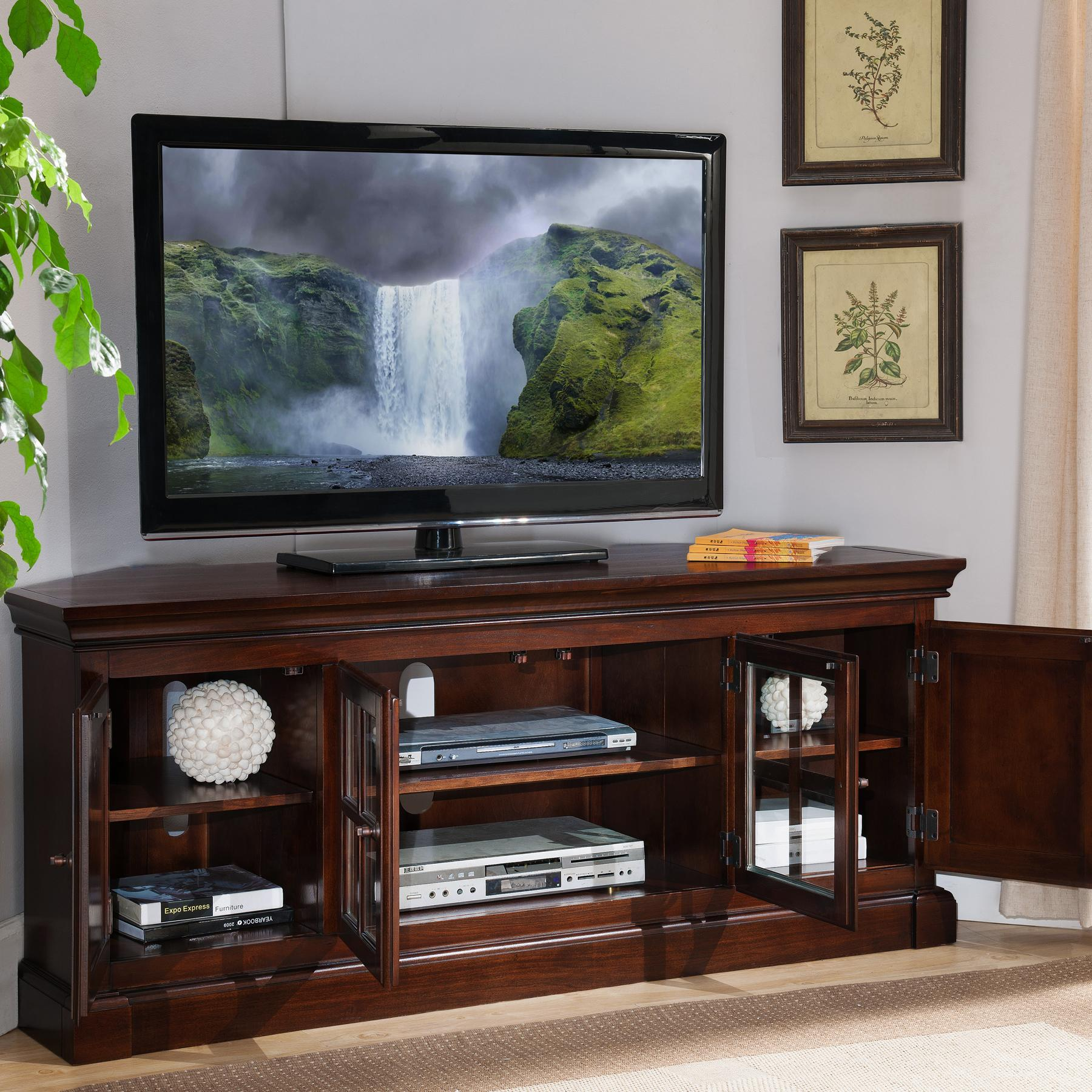"Amazon Leick Bella Maison 56"" Corner TV Stand with"