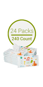 Baby Wipes 24 Packs (240 Count)