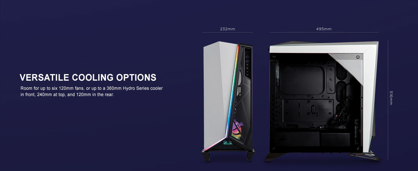 Carbide Series SPEC-OMEGA RGB Mid-Tower Tempered Glass Gaming Case