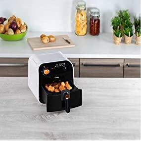 T-fal FX100051 Fry Delight Air Fryer-Mechanical Control, Black and White