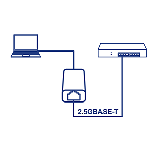 2.5GBASE-T, IEEE 802.3bz, USB Type-C, USB-C, USB 3.1, USB 3.0, USB 2.5G LAN Wired Network Adapter
