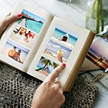 book with 2x3 photo paper photos