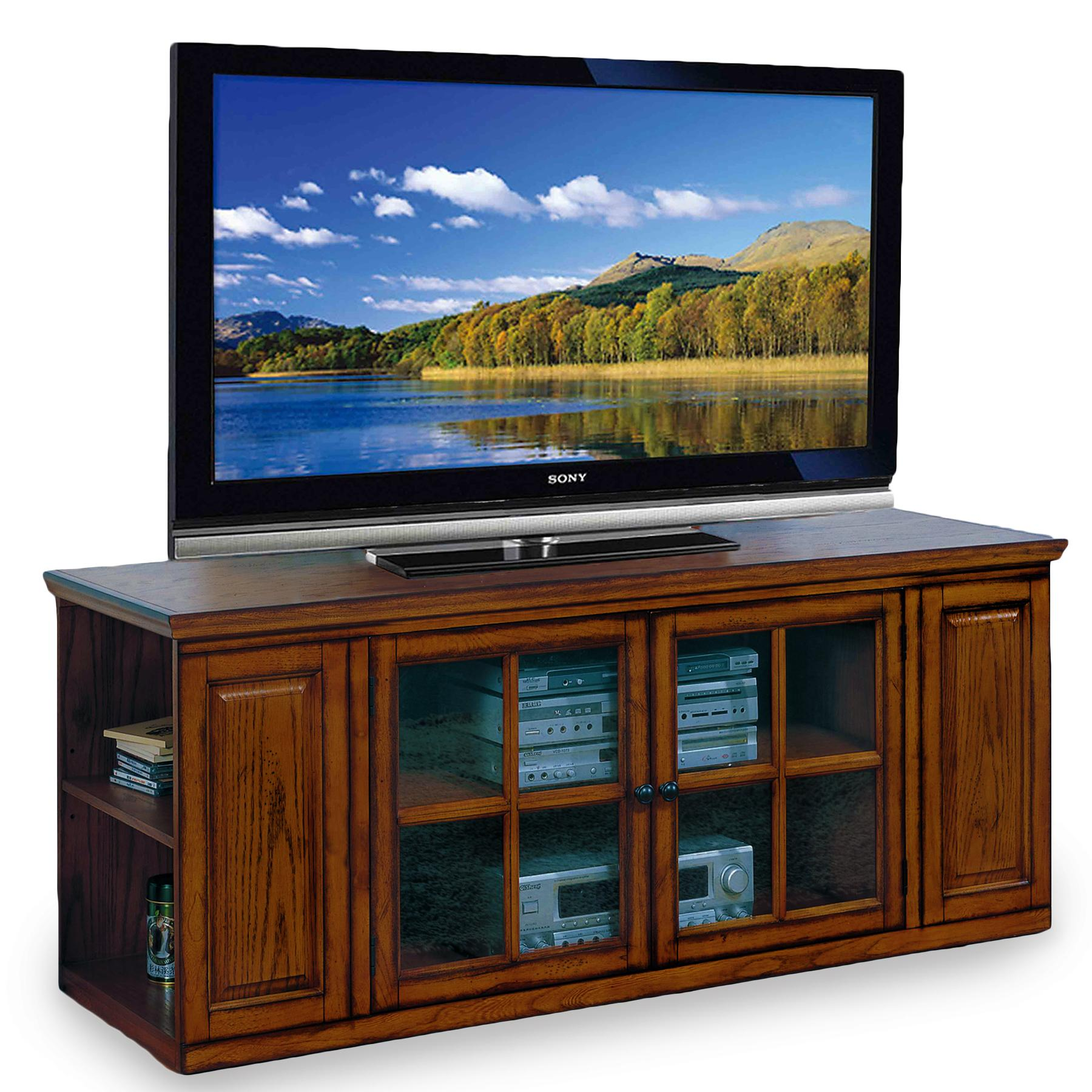 Amazon Com Leick Riley Holliday Tv Stand 62 Inch Burnished Oak