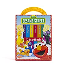 my,first,library,book,block,early,learning,year,old,olds,baby,babies,1,2,sesame,street,elmo,puppets