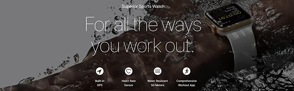 Apple watch 2; series 2; concrete; sports band; 38mm; 42mm; iwatch; fitness; heart rate; monitor