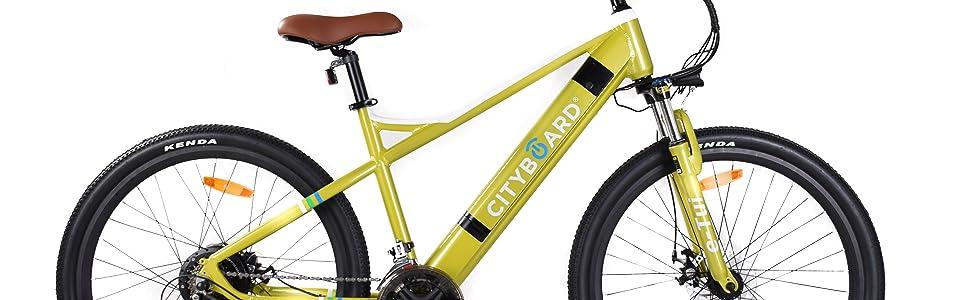 "Bicicleta Eléctrica Cityboard E-TUI de 27,5"" Mountain Bike diseño único."
