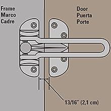 National Hardware V804 Door Security Guard In Satin Nickel