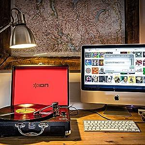 ION Audio Vinyl Motion - Giradiscos Portátil de Tres Velocidades ...