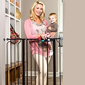 extra tall black baby gate