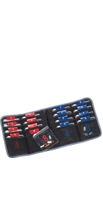 weekly pill organizer foldable travel friendly pocket slots vitamin holder pill box medication