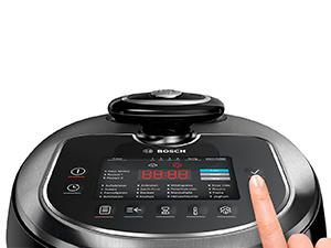 Bosch MUC88B68ES AutoCook - Olla exprés eléctrica, 1200 W, 5L, acero inoxidable, función presión y calentamiento por inducción: Bosch: Amazon.es: Hogar