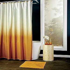 gold shower curtain, gold bath decor, bath decor, vern yip, vern yip home decor, vern yip for skl