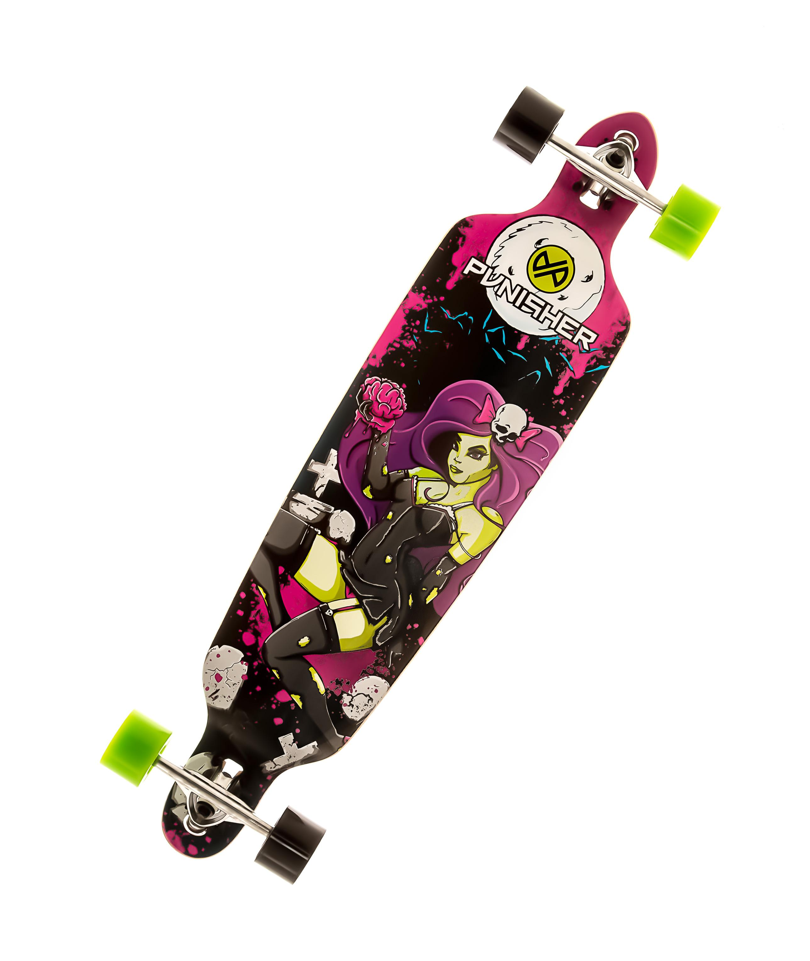 amazon com punisher skateboards day of the dead drop through