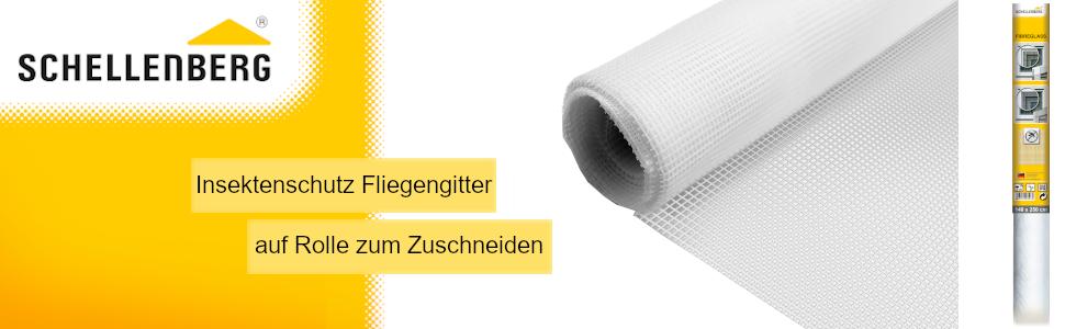 Schellenberg vliegengaas per meter wit