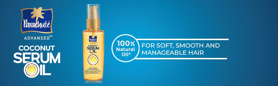 parachute coconut oil serum,serum for dry hair,hair oil serum,hair serum,coconut hair serum,hair oil
