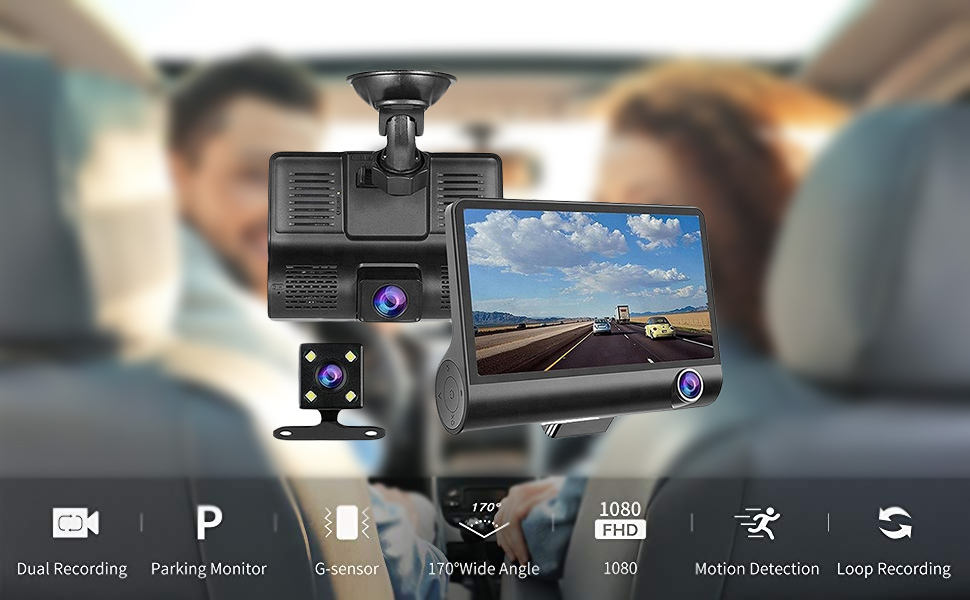 SUZEC Car Dash Cam with 4 inch Wide Screen and 1080p: Amazon.in: Electronics