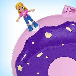 Amazon.es: Polly Pocket Cofre Donut Sorpresa, Muñeca con ...
