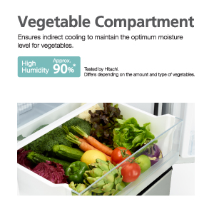 Moisture-Guard Vegetable Compartme,Hitachi Fridge, refrigerator,Inverter Fridge,Best Refrigerator