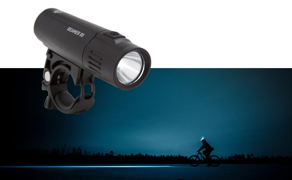 Planet Bike Beamer 80 Headlight and Grateful Red Taillight Set