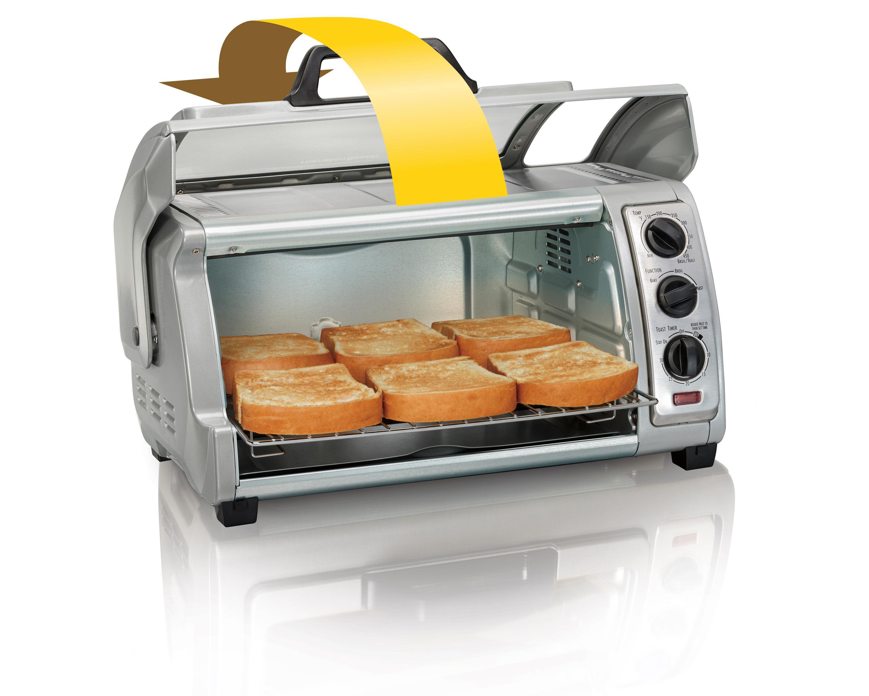Amazon Com Hamilton Beach Countertop Toaster Oven Easy