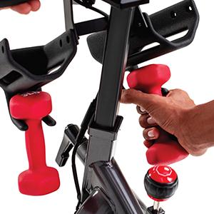 Schwinn IC4 Indoor Cycling Bike Dumbbells