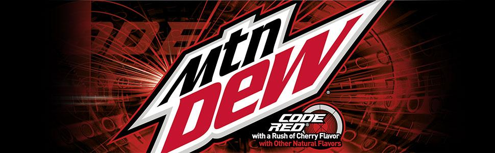 mtn dew code red soda pop 36 cans