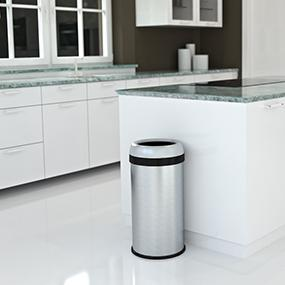 stainless steel trash can kitchen