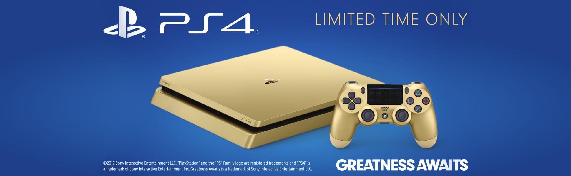 Playstation 4 Slim 1tb Gold Console Discontinued Sony 1 Tb Cuh 2016b From The Manufacturer