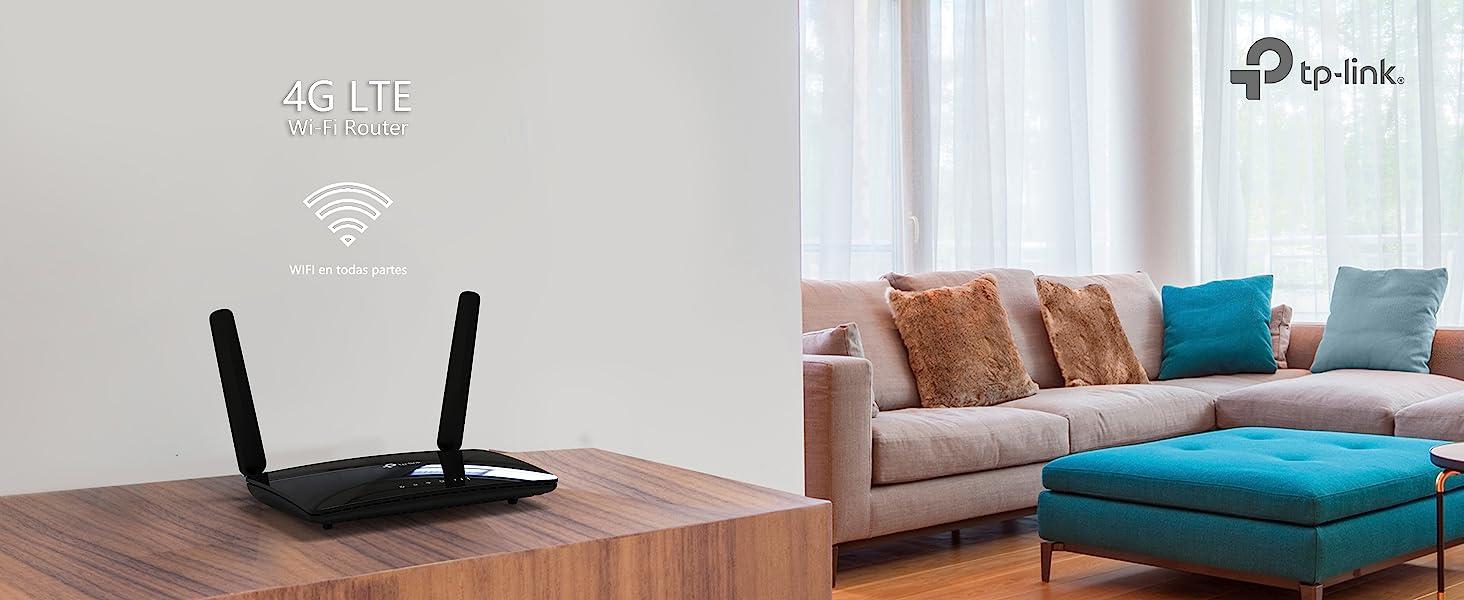 TP-Link TL-MR6400, Router 4G LTE (Cat 4), velocidad hasta 300Mpbs, MicroSim