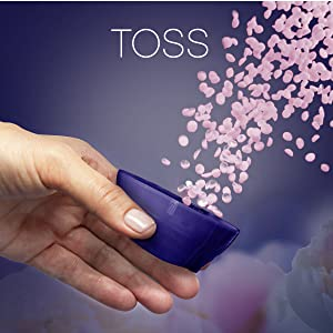 toss, downy infusions scent booster beads, downy washer beads, washing machine, clothing, clothes