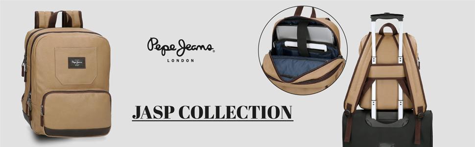mochila adaptable pepe jeans